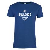 Ladies Royal T Shirt-Bulldogs Basketball Net