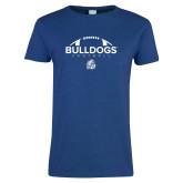 Ladies Royal T Shirt-Bulldogs Football