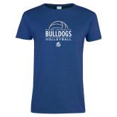 Ladies Royal T Shirt-Bulldogs Volleyball