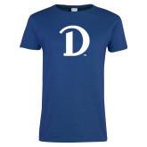 Ladies Royal T Shirt-Drake D Logo