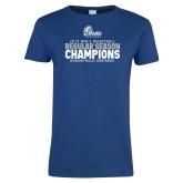 Ladies Royal T Shirt-2019 Mens Basketball Regular Season Champions