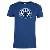 Ladies Royal T Shirt-Paw Print Logo