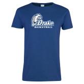 Ladies Royal T Shirt-Drake Basketball