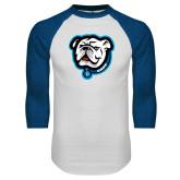White/Royal Raglan Baseball T Shirt-Griff