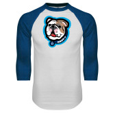 White/Royal Raglan Baseball T Shirt-Griff II
