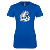 Next Level Ladies SoftStyle Junior Fitted Royal Tee-D Dog