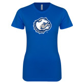Next Level Ladies SoftStyle Junior Fitted Royal Tee-Bulldog Head