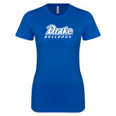 Next Level Ladies SoftStyle Junior Fitted Royal Tee-Athletic Wordmark