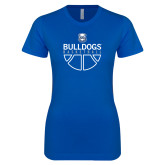 Next Level Ladies SoftStyle Junior Fitted Royal Tee-Bulldogs Basketball