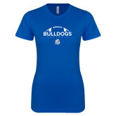 Next Level Ladies SoftStyle Junior Fitted Royal Tee-Bulldogs Football