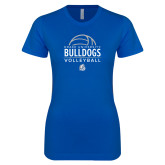 Next Level Ladies SoftStyle Junior Fitted Royal Tee-Bulldogs Volleyball