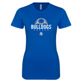 Next Level Ladies SoftStyle Junior Fitted Royal Tee-Bulldogs Soccer