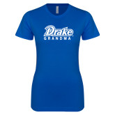 Next Level Ladies SoftStyle Junior Fitted Royal Tee-Drake Grandma