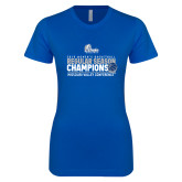 Next Level Ladies SoftStyle Junior Fitted Royal Tee-2019 Womens Regular Season Basketball Champions