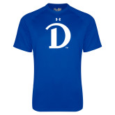 Under Armour Royal Tech Tee-Drake D Logo