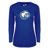 Ladies Syntrel Performance Royal Longsleeve Shirt-Bulldog Head