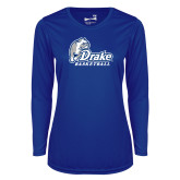 Ladies Syntrel Performance Royal Longsleeve Shirt-Drake Basketball
