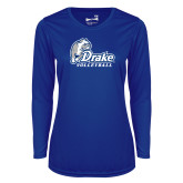 Ladies Syntrel Performance Royal Longsleeve Shirt-Drake Volleyball