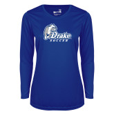 Ladies Syntrel Performance Royal Longsleeve Shirt-Drake Soccer