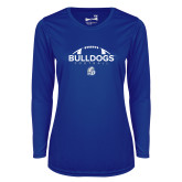Ladies Syntrel Performance Royal Longsleeve Shirt-Bulldogs Football