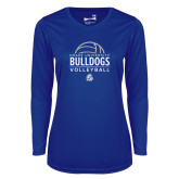 Ladies Syntrel Performance Royal Longsleeve Shirt-Bulldogs Volleyball
