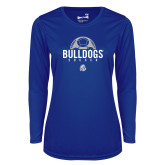 Ladies Syntrel Performance Royal Longsleeve Shirt-Bulldogs Soccer