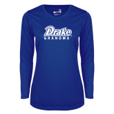 Ladies Syntrel Performance Royal Longsleeve Shirt-Drake Grandma