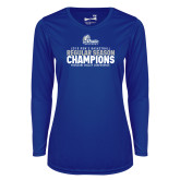 Ladies Syntrel Performance Royal Longsleeve Shirt-2019 Mens Basketball Regular Season Champions