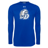Under Armour Royal Long Sleeve Tech Tee-D Dog