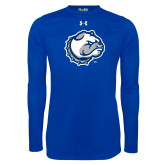 Under Armour Royal Long Sleeve Tech Tee-Bulldog Head