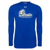 Under Armour Royal Long Sleeve Tech Tee-Drake Football