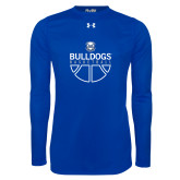 Under Armour Royal Long Sleeve Tech Tee-Bulldogs Basketball