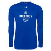 Under Armour Royal Long Sleeve Tech Tee-Bulldogs Basketball Net