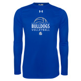 Under Armour Royal Long Sleeve Tech Tee-Bulldogs Volleyball