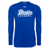 Under Armour Royal Long Sleeve Tech Tee-Drake Grandpa