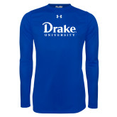 Under Armour Royal Long Sleeve Tech Tee-Drake University