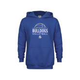Youth Royal Fleece Hoodie-Bulldogs Volleyball