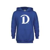 Youth Royal Fleece Hoodie-Drake D Logo