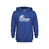 Youth Royal Fleece Hoodie-Drake Volleyball