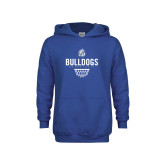 Youth Royal Fleece Hoodie-Bulldogs Basketball Net