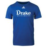 Adidas Royal Logo T Shirt-Drake University