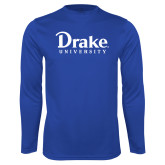 Performance Royal Longsleeve Shirt-Drake University