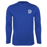 Performance Royal Longsleeve Shirt-Drake D Logo