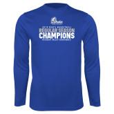 Performance Royal Longsleeve Shirt-2019 Mens Basketball Regular Season Champions