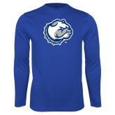 Performance Royal Longsleeve Shirt-Bulldog Head