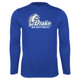Performance Royal Longsleeve Shirt-Drake Basketball