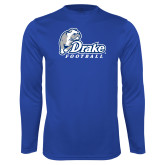 Performance Royal Longsleeve Shirt-Drake Football