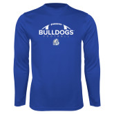 Performance Royal Longsleeve Shirt-Bulldogs Football