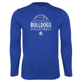 Performance Royal Longsleeve Shirt-Bulldogs Volleyball
