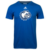Adidas Climalite Royal Ultimate Performance Tee-Bulldog Head